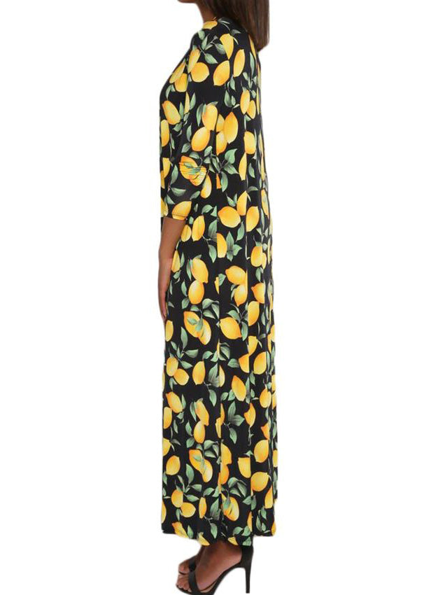 Presley Lemon Print Swimsuit With Cover Up