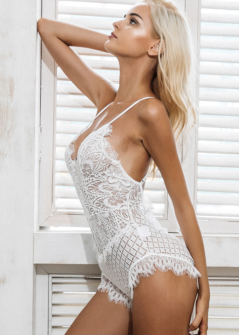V-Neck Backless Transparent lingerie Intimates