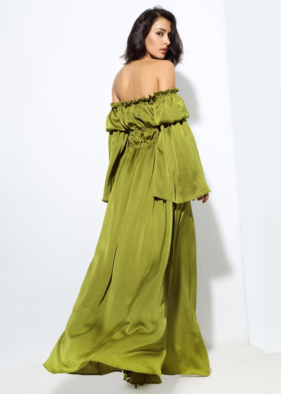 Shoulder Strap Decoration Speaker Maxi Dress