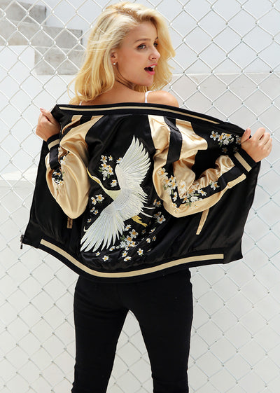 Emberson Vintage Embroidery Basic Jacket