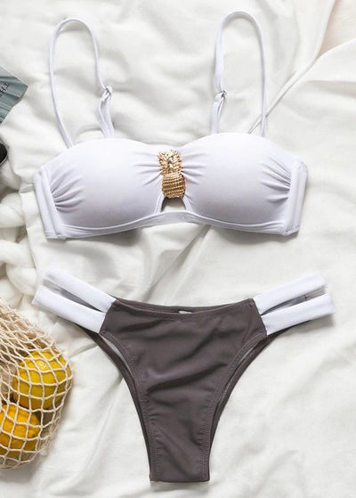 Barcelona Push-Up Strap Bikini Set