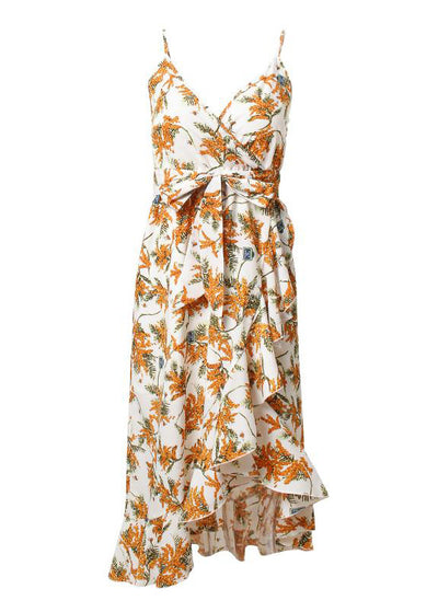 Emma V-Neck Floral Print Ruffled Sundress