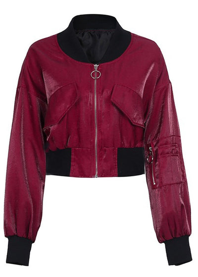 Emersyn Bat Sleeve Streetwear Basic Jackets