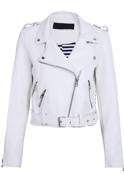 Abby Zipper Leather Streetwear Coat Jacket