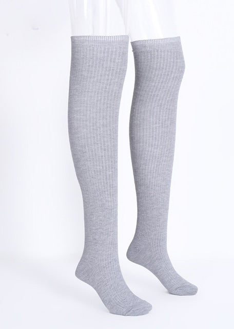 Knitting High Knee Long Socks