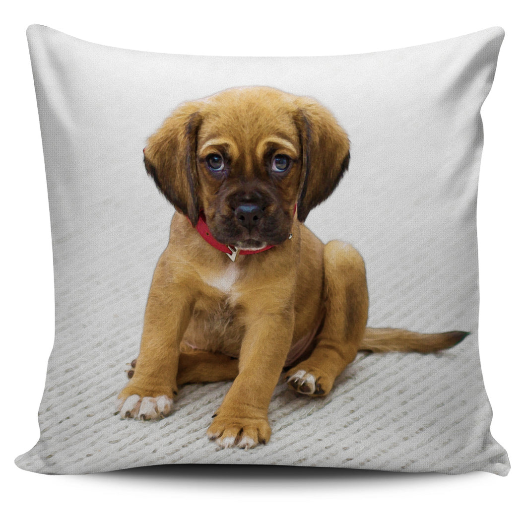Pillow Cover Puppy on Carpet Watercolor