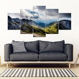 Hiking Dream Mount Pilatus Switzerland Framed Canvas Wall Art - 5 Piece Framed Canvas