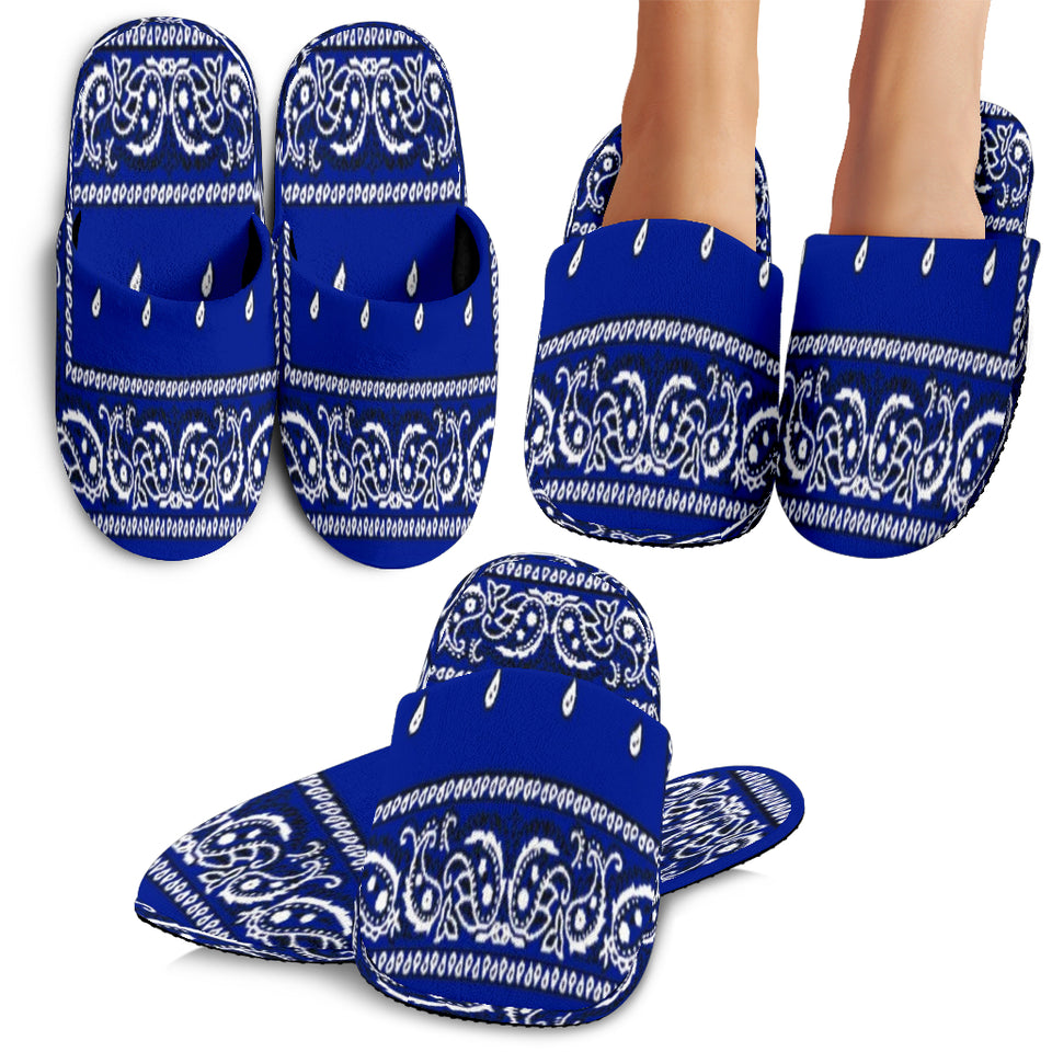Crip Blue Slippers