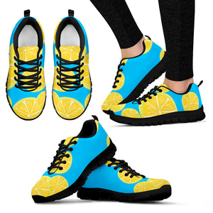 "Women's sneakers ""Lemons"" (on dark)"