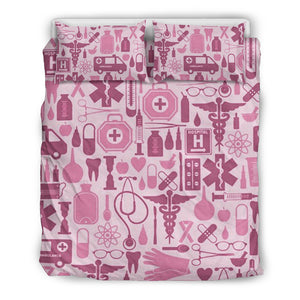 NURSE PINK TOOLS BEDDING SET NURSES NURSING