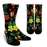 Watercolor Black Floral Socks