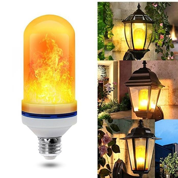 LED Flame Effect Flickering Fire Light Bulb with Gravity Sensor