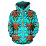 Upstream Expedition Noon Day Sky Turtles Sokapi Zipper Hoodie