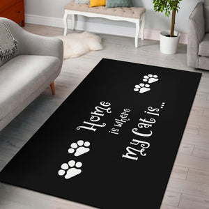 Cat Home Area Rug
