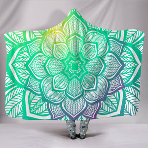 Lotus Flower Mandala Hooded Blanket