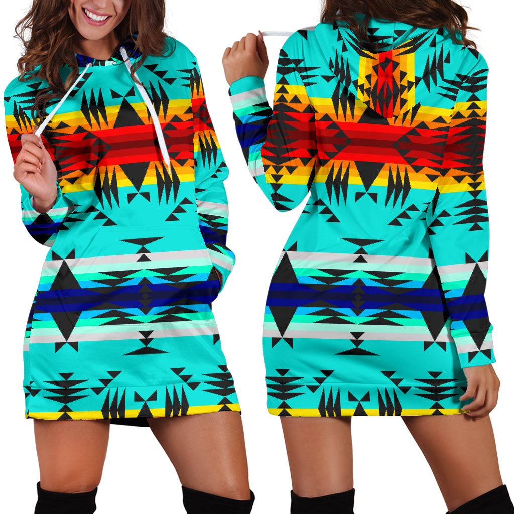 Between the Mountains Hoodie Dress