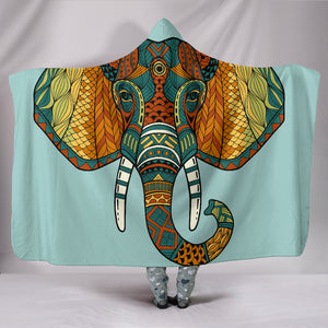 Mandala Elephant Head Hooded Blanket