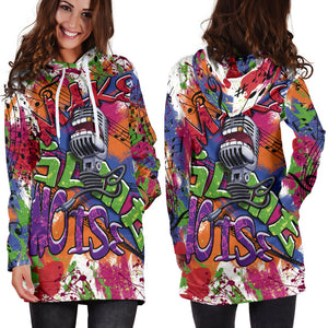 women`s Hoodie Dress Make Some Noise