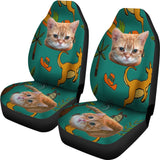 Yellow cat Car Seat Cover