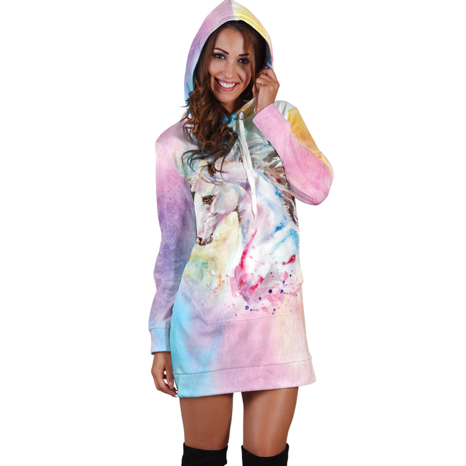 Unicorn 3 Hoodie Dress