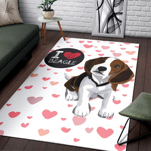 Beagle Dog Lovers Rug