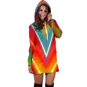 Colorful Abstract Women's Hoodie Dress