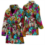 Sugar Skull Women's Bath Robe