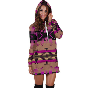 Between the Mountains Berry Hoodie Dress