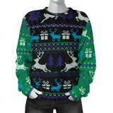 Ugly Christmas Green and Blue Sweater