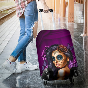 Luggage Covers Calavera Violet