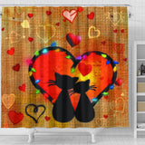 Cats in love Shower Curtain