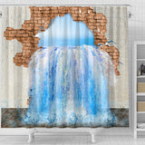3D Shower Curtain - Water Leak
