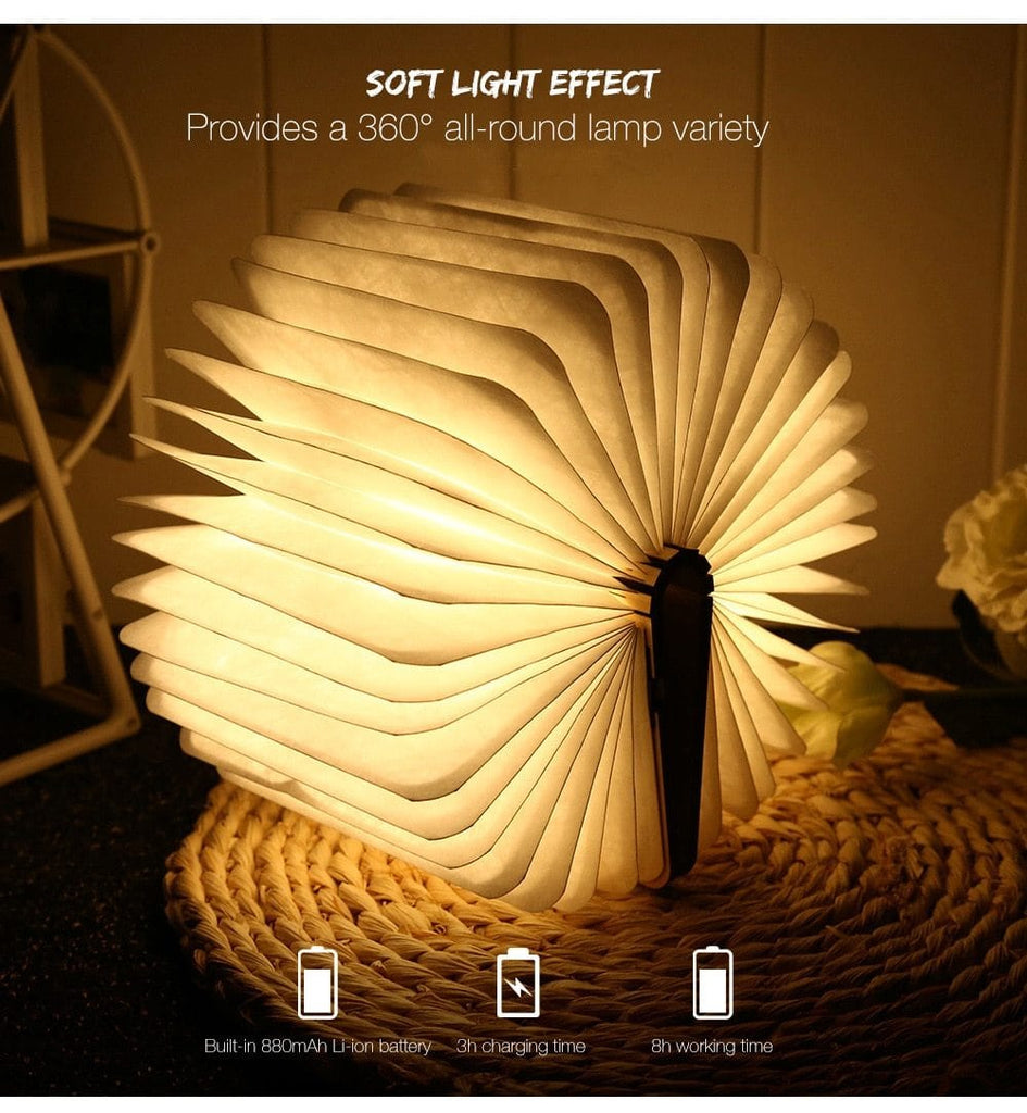 RIGAL LED FOLDING BOOK LAMP