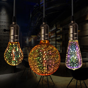 Rigal LED Bulb 3D Colorful Fireworks