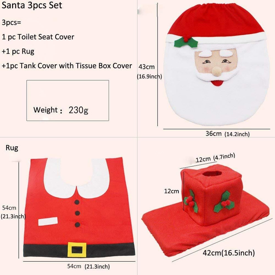 SUPER CHRISTMAS TOILET COVERS