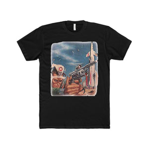 Vintage Sci-Fi, Men's Cotton Crew Tee