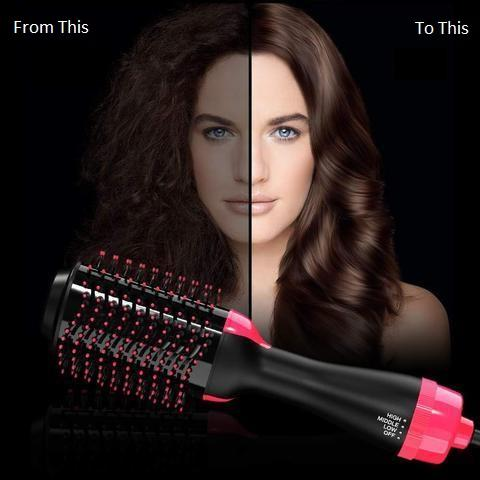 2 In 1 Hair Dryer Volumizer Rotating Hot Hair Brush Instructions