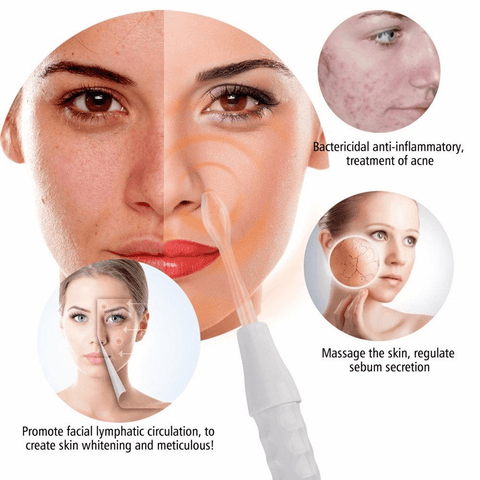How To Use High Frequency Facial Beauty Wand