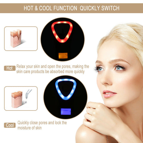 hot and cold facial massager for anti aging
