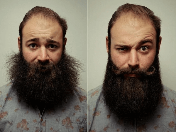 Before and After Beard Straightener