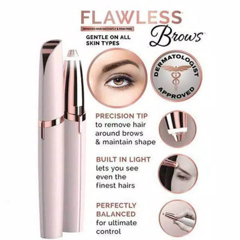 Electric Eyebrow Pencil Electric Finishing Touch Flawless Brows Instant Hair Remover Face Care