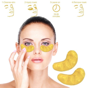 24k Gold Collagen Eye Mask For Anti-aging And Eye Bags Reduction