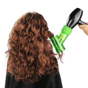 Wind Spin Curl Hair Diffuser Green