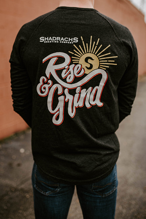 "Long Sleeve ""Rise & Grind"" Henley"