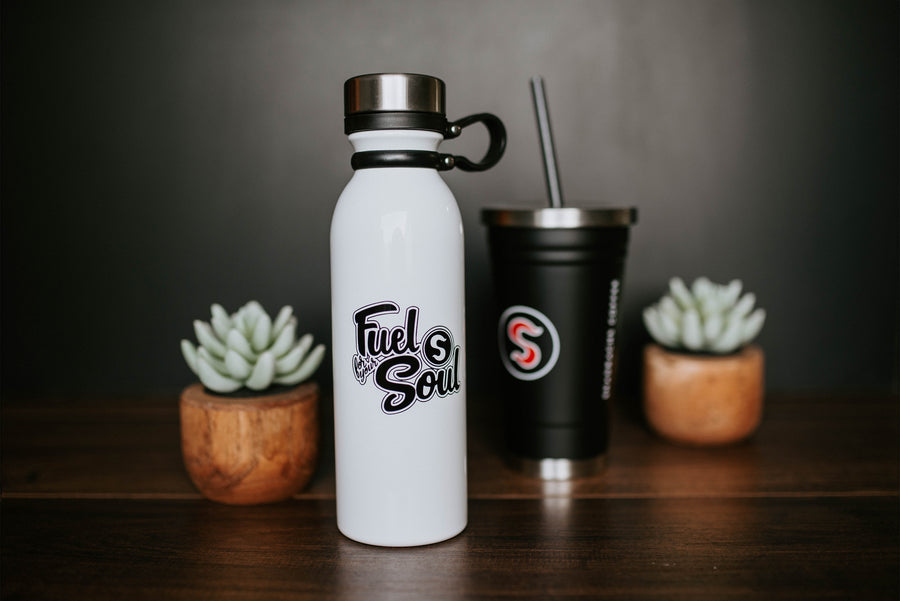 Insulated White Bottle