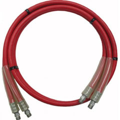 "10' Non Conductive Rubber Hydraulic Hose 3/8"" X 3/8"" Pipe Thread (98-66804)"