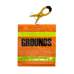 """Grounds"" Flag w/Clamp - 8454HO3"