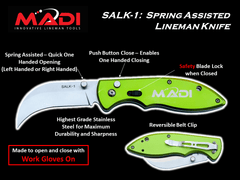 MADI Spring Assisted Lineman Knife (95-SALK1)