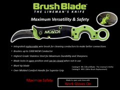 MADI BrushBlade Skinning Knife (95-BB2)