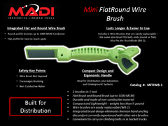 MADI Mini FlatRound Wire Brush (95-MFRWB1)